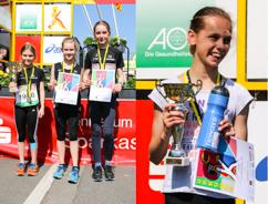 Siegerehrungsfoto Mia Kamps, Amelie Gebel, Jasmin Becker und Nina Schreckenberg, Lilly Kühn