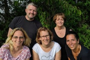 Anja Bürkle, Michael Schütze, Tamara Herting, Annegret Müller, Rebeka Palomino