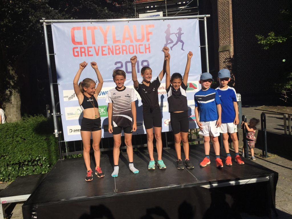 Siegerehrung Grevenbroicher Citylauf